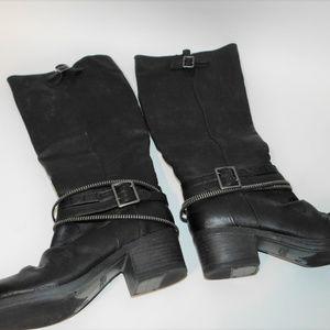 Carlos Santana Tall Black Boots size 10